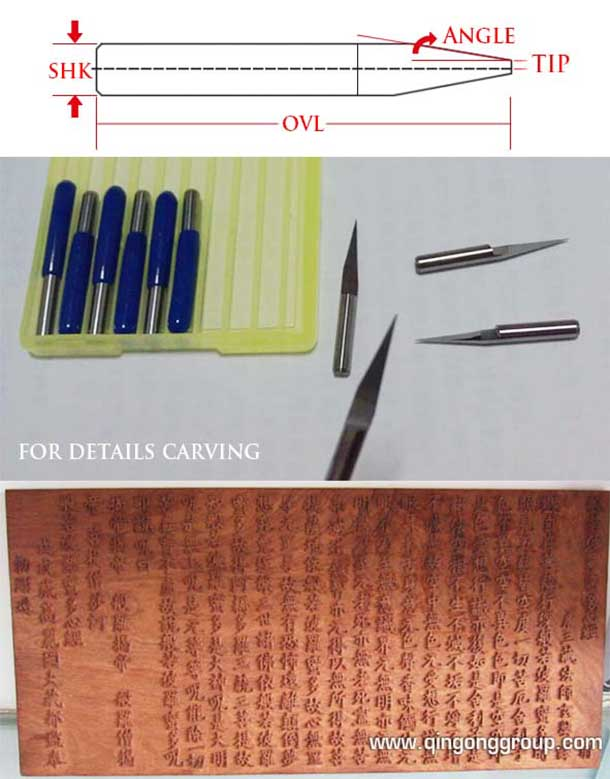 Flat Bottom Engraving Bits For Cnc Router Finish Carving