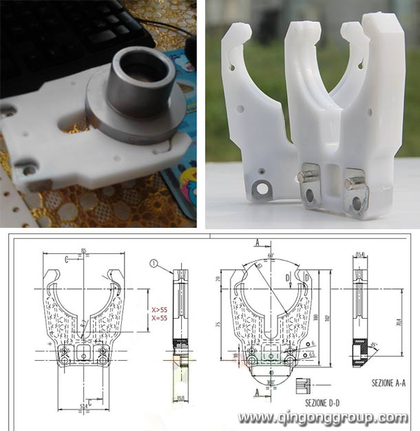 Hsk 63f Cnc Tool Holder Forks For Auto Tool Changing Cnc